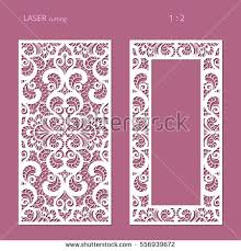 panels lace pattern swirly lattice stock vector 556939672