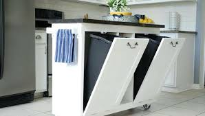 kitchen island with trash bin awe inspiring kitchen island with trash storage trash can storage