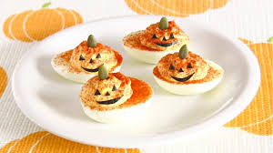 halloween jack o u0027 lantern deviled eggs recipe ハロウィン