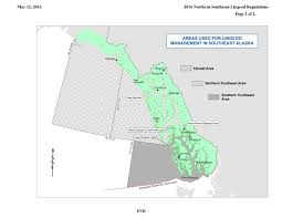 Southeast Alaska Map Lingcod U2013 Southern Se Regulations Southeast Alaska Guides