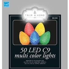energy star led c9 lights trim a home 50ct led c9 light multi color energy star seasonal