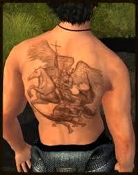 second life marketplace st michael back tattoo