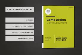 game design template game design document template brochure templates creative market