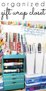 how to store wrapping paper and gift bags organizing with style an organized gift wrap closet gift wrap