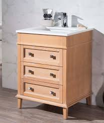 25 Inch Vanity 25 Inch Traditional Brown Tan Finish Single Bathroom Vanity