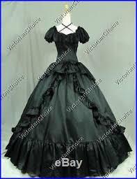 Civil War Halloween Costume Victorian Black Dress Civil War Gown Theater Witch Vampire