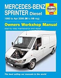 mercedes repair manuals mercedes sprinter 95 06 m to 06 haynes service and repair