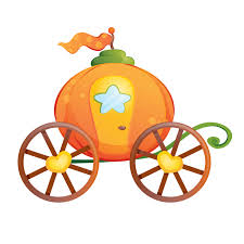 pumpkin carriage wizards and princesses wallstickers for kids pumpkin carriage sticker
