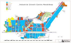 Bhopal India Map by Madhya Pradesh Audyogik Kendra Vikas Nigam Bhopal