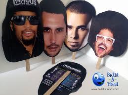 big face cutouts at surrender and encore beach club build a head