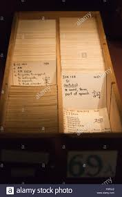 japanese index cards at bletchley park museum part of the