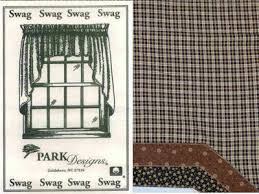 Lined Swag Curtains Park Designs Cider Mill Collection