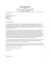 immigration enforcement agent cover letter