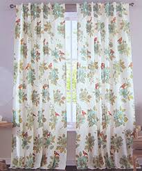 Large Print Curtains Envogue Window Curtains Birds Large Flowers 50 By 96 Inches 100
