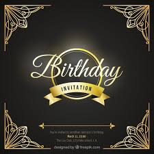 birthday card with luxury ornaments vector free