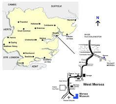 Essex England Map by Mersea Island Museum Essex