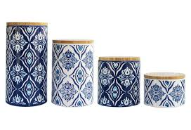 blue and white kitchen canisters 32 00 4 pc pirouette blue white canister set kitchen accessories
