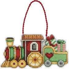 dimensions counted cross stitch train ornament 050940 dimensions