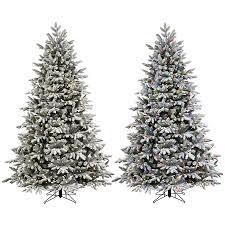 ge 7 5 ft pre lit alaskan pine flocked artificial tree