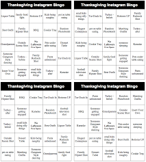 thanksgiving instagram bingo lynette radio