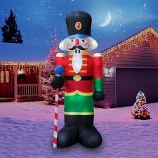 christmas inflatables holidayana christmas 8 ft penguin in santa hat