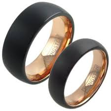 wholesale gold rings images Two tone black rose gold ring wholesale tungsten ring 925express jpg