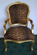 Leopard Armchair Contemporary Reproduction Louis Xv Antique Chairs Ebay