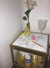 ikea charging station hack ikea nesna side table 1 spray table in gold 2 cover glass top in