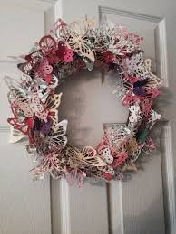 Pink Butterfly Christmas Decorations by 13 Best Endless Wreaths Images On Pinterest Butterfly Wreaths