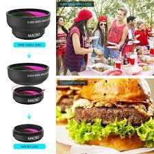 cuisine plus lens amazon com cell phone lens zptone 2 in 1 clip on lens kit