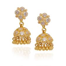 gold jhumka earrings jhumki earrings india gold jhumka earrings buy gold jhumki