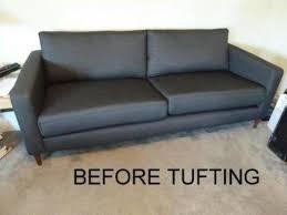 ikea karlstad sofa ikea karlstad sofa goes mid century modern thanks to tufting