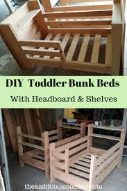Diy Toddler Bunk Beds Diy Toddler Bunk Beds With Shelves Headboard 683x1024 Png