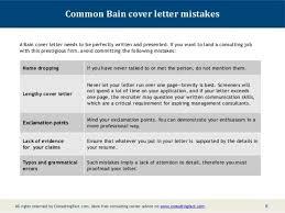 bain cover letter 6 resume and cover letter samples cover letter