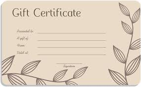 printable gift card leaf branches gift certificate template