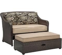 hanover cuddle chair and a half with storage ottoman u2014 qvc com