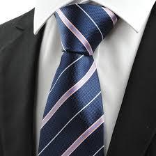 sale neck ties pink white striped navy blue jacquard s tie