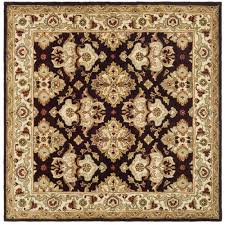 Safavieh Rooster Rug by Safavieh Heritage Espresso Ivory 6 Ft X 6 Ft Square Area Rug