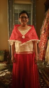 maria clara dress red ivory 3 pcs set heidee u0027s formals