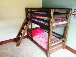 Pallet Bunk Beds Diy Pallet Bunk Bed White Classic Bunk 17131 Pmap Info
