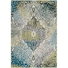 Peacock Area Rugs Safavieh Watercolor Ivory Peacock Blue 4 Ft X 6 Ft Area Rug