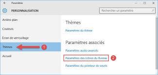 probleme icone bureau windows 10 afficher ce pc panneau de configuration sur le