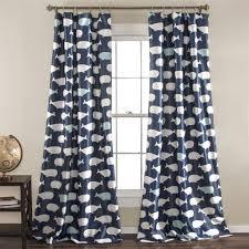 Navy Window Curtains Whale Window Curtain Panel Set Lush Decor Www Lushdecor
