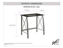 Desk Measurements Bell U0027o International Corporation Avs4601hg