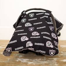 Pink Car Seat Canopy by Oakland Raiders Baby Gear Carseat Canopy Cover Nfl Licensed