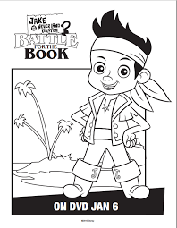 free jake neverland pirates activity sheets battle