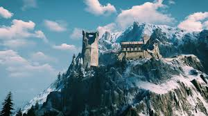 old castle on a cliff witcher