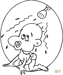 baby coloring free printable coloring pages