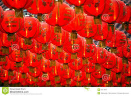 lanterns new year new year paper lanterns background stock image image