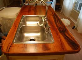 kitchen sink and counter mesquite wood countertops bar tops in texas faifer company inc
